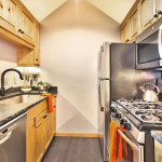Heretic Condos Park City unit 1 kitchen