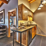 Heretic Condos Park City unit 2, 2 bedroom, 2 bath, kitchen and living room