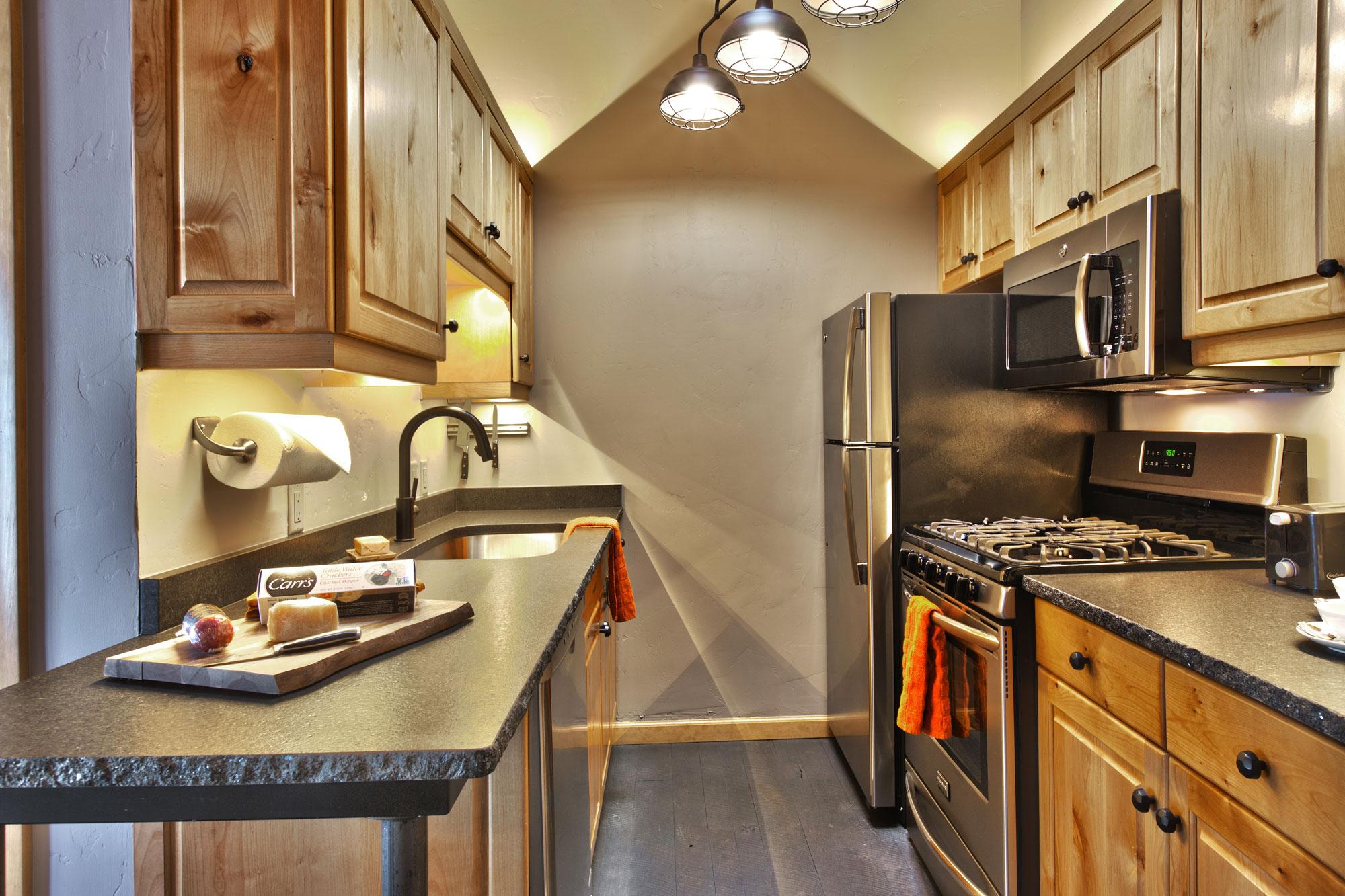 Heretic Condos Park City Unit 2, 2 Bedroom, 2 Bath, Kitchen