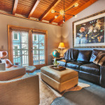 Heretic Condos Park City unit 2, 2 bedroom, 2 bath, living room